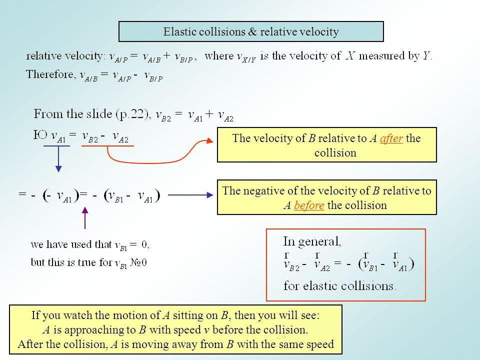 Elastic collisions & relative velocity