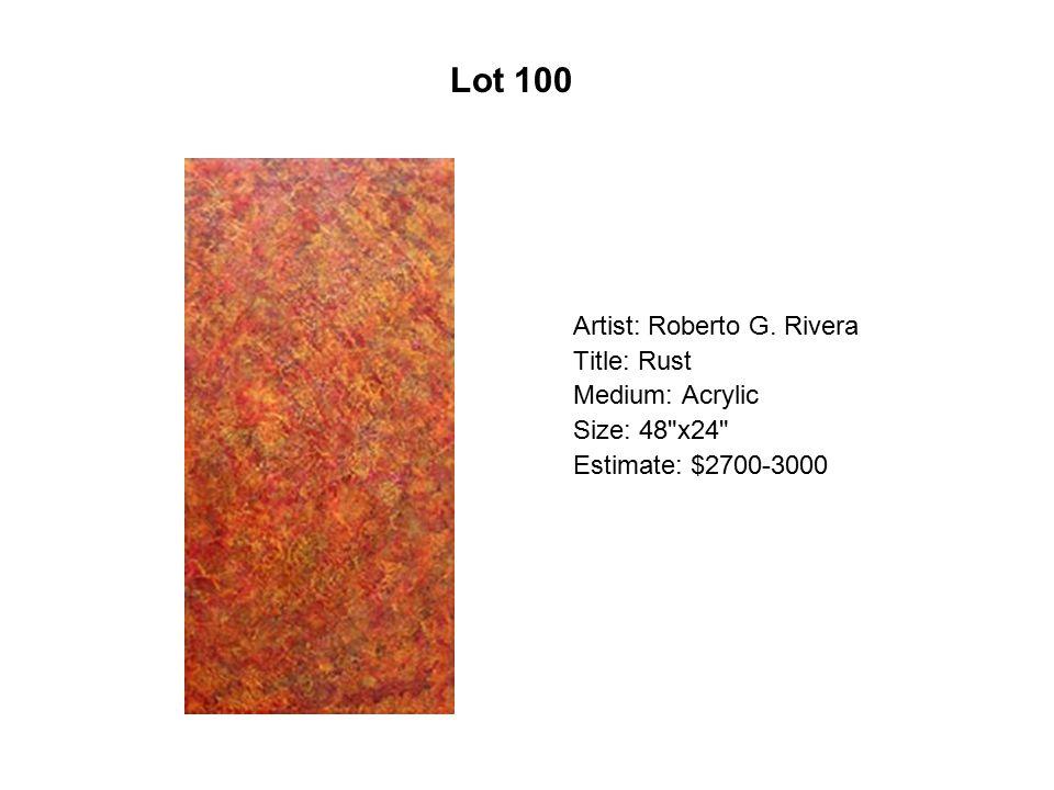 Lot 95 Artist: Tlisza Jaurique Title: Árbol de la vida