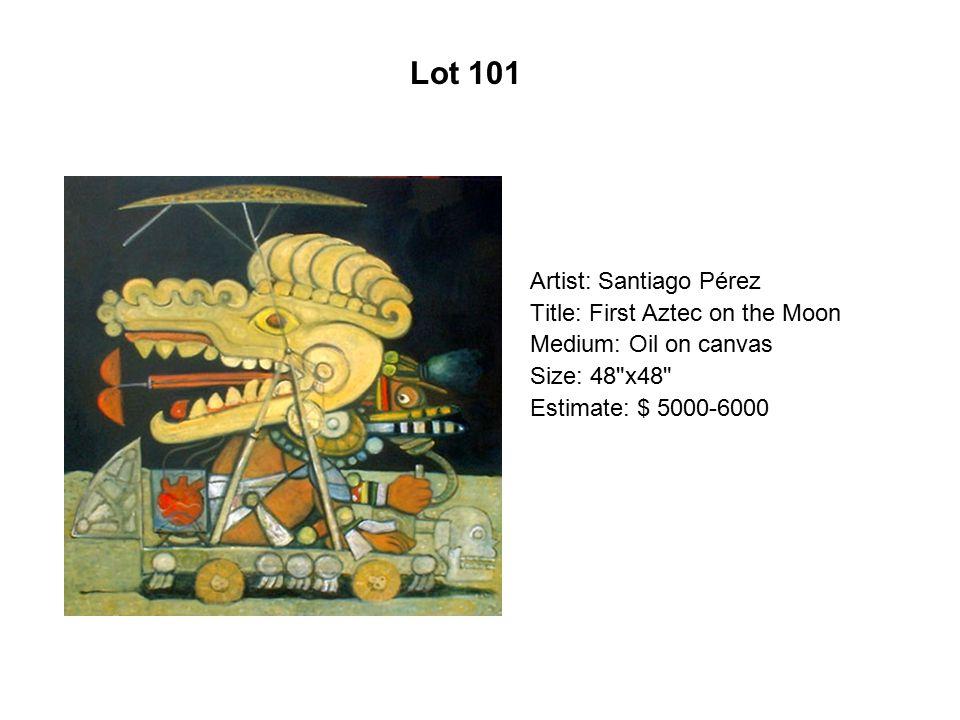 Lot 96 Artist: Alma Gómez Title: Socorro Medium: Oil on canvas