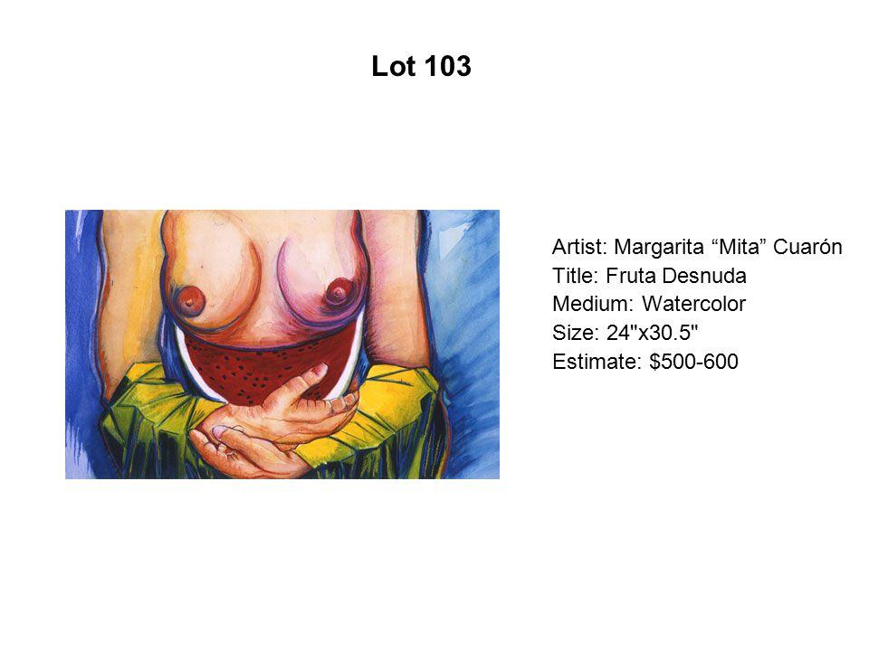 Lot 98 Artist: Rolando Briseño Title: Unique Place Setting