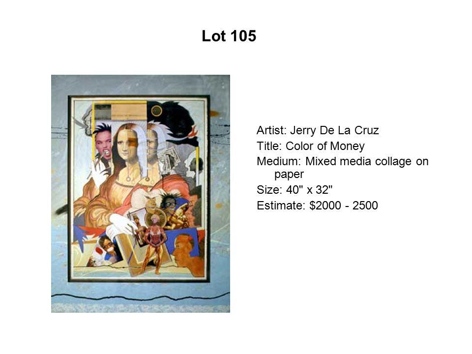 Lot 100 Artist: Roberto G. Rivera Title: Rust Medium: Acrylic