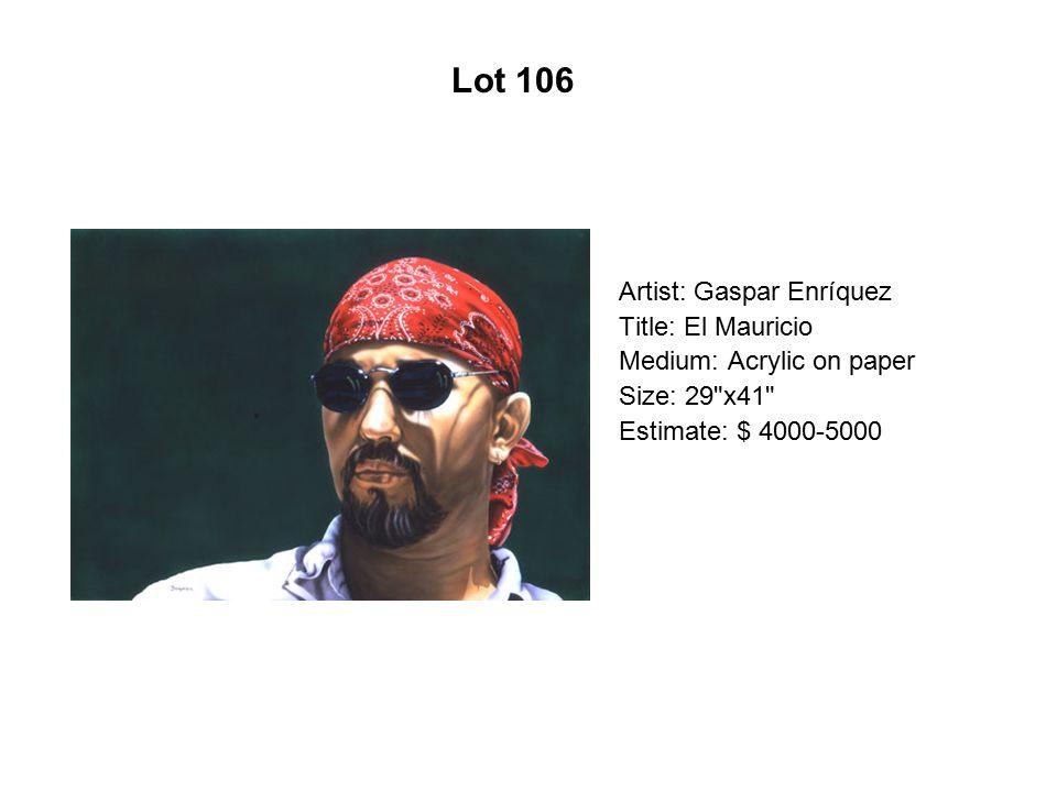 Lot 101 Artist: Santiago Pérez Title: First Aztec on the Moon