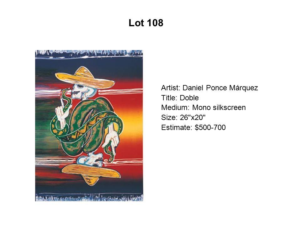 Lot 103 Artist: Margarita Mita Cuarón Title: Fruta Desnuda