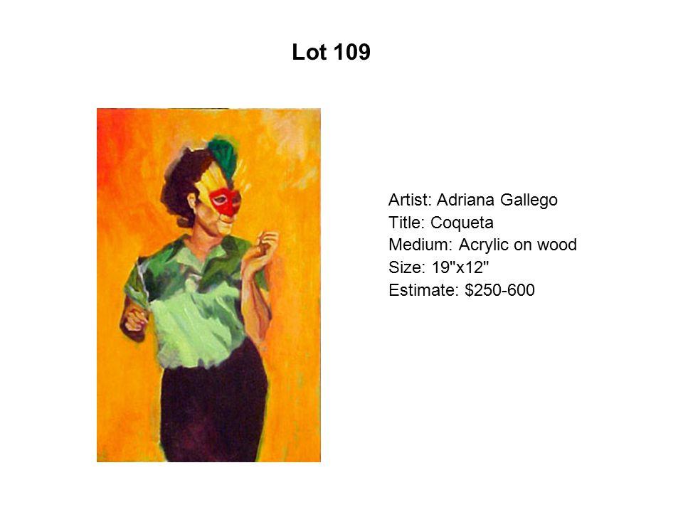 Lot 104 Artist: Claudio Dicochea Title: Drive Medium: Acrylic on wood