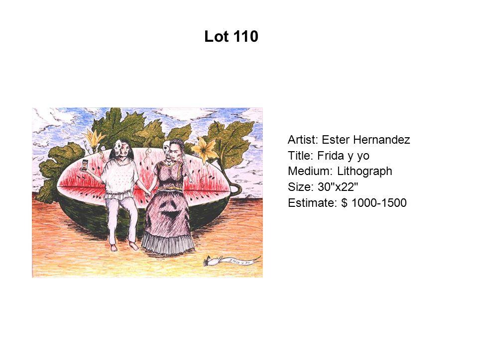 Lot 105 Artist: Jerry De La Cruz Title: Color of Money