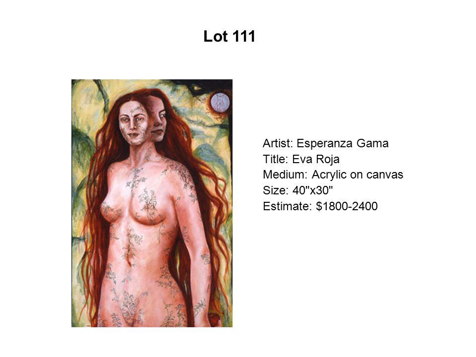 Lot 106 Artist: Gaspar Enríquez Title: El Mauricio