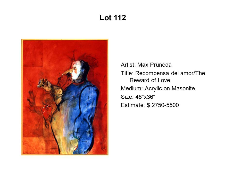 Lot 107 Artist: Wayne Alaniz Healy Title: Domingo deportivo
