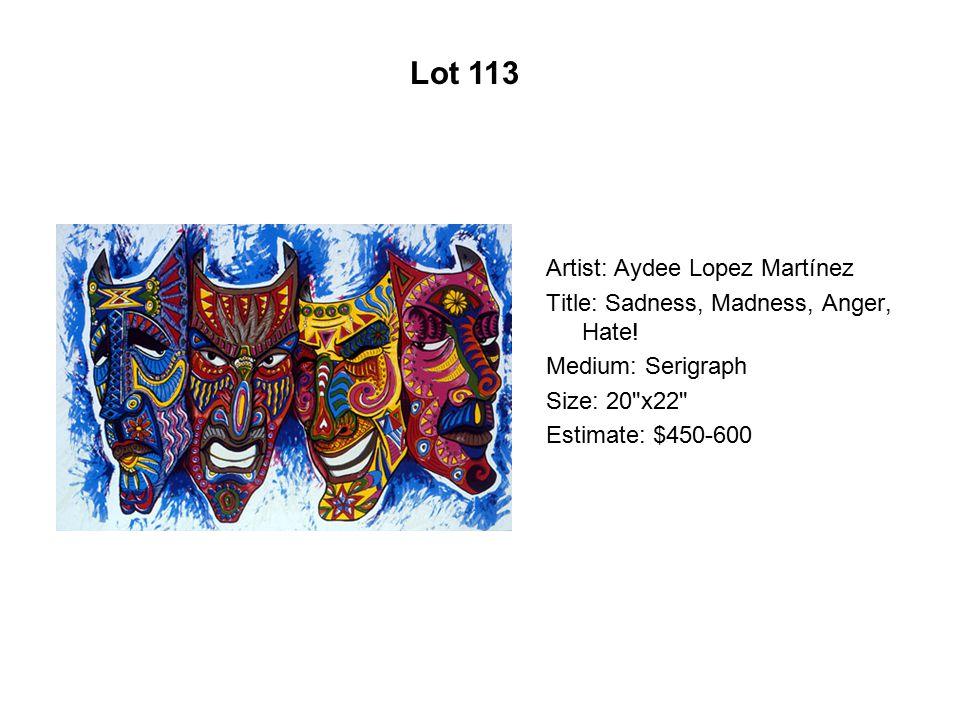 Lot 108 Artist: Daniel Ponce Márquez Title: Doble