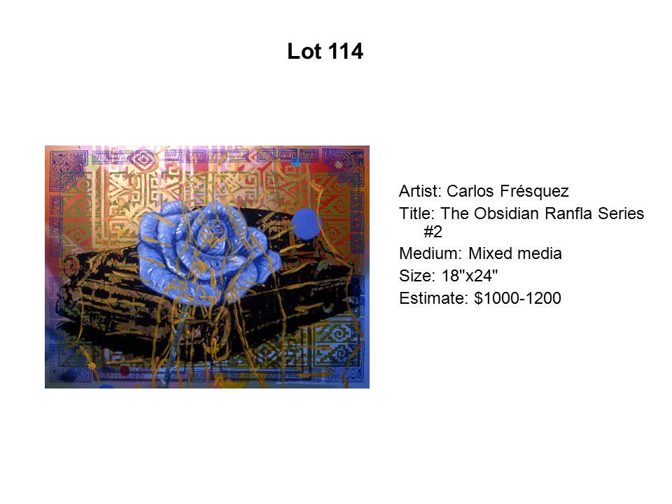 Lot 109 Artist: Adriana Gallego Title: Coqueta Medium: Acrylic on wood