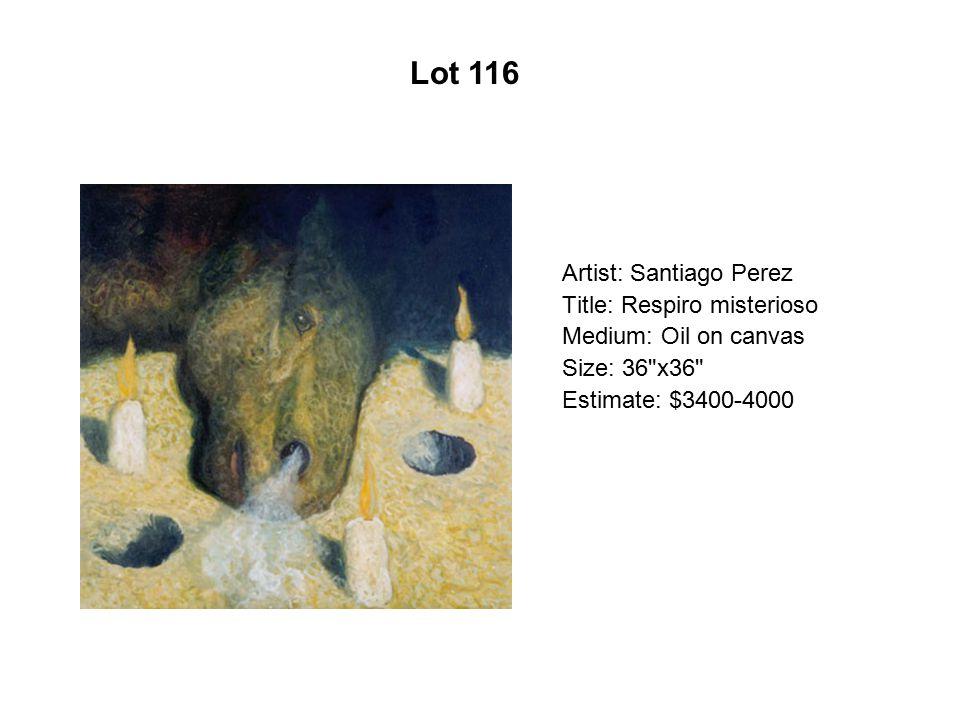 Lot 111 Artist: Esperanza Gama Title: Eva Roja