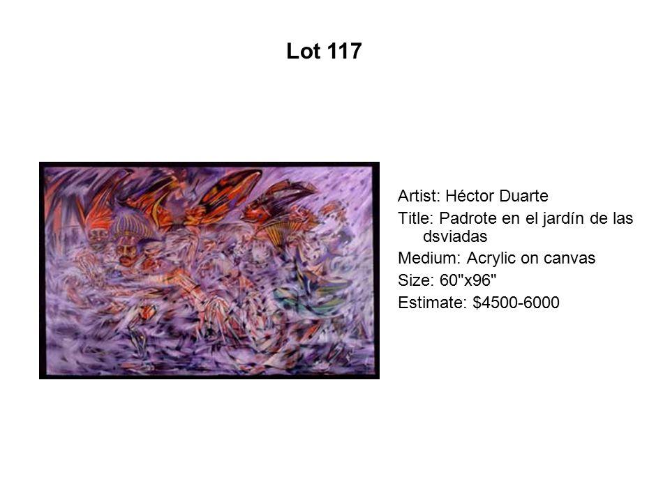 Lot 112 Artist: Max Pruneda