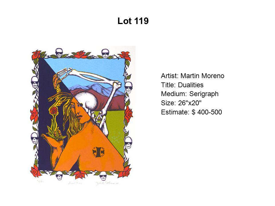 Lot 114 Artist: Carlos Frésquez Title: The Obsidian Ranfla Series #2