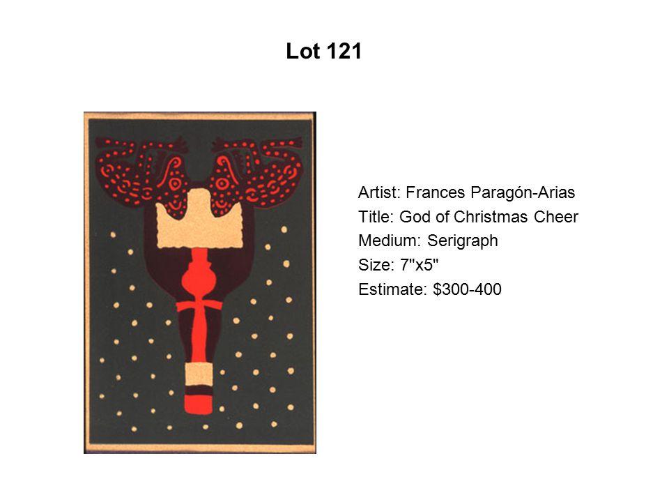 Lot 116 Artist: Santiago Perez Title: Respiro misterioso