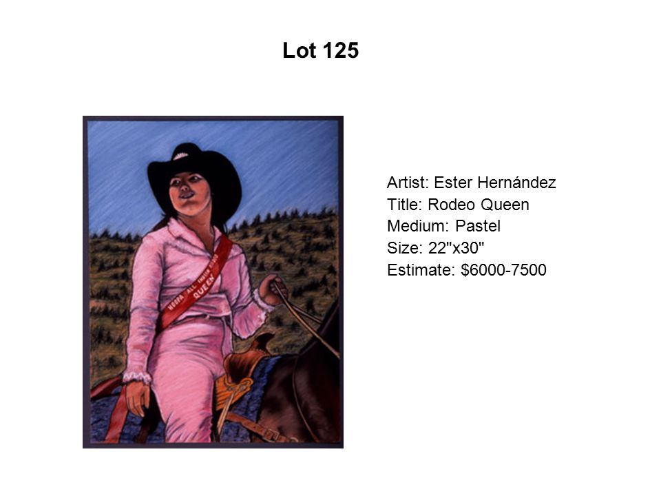 Lot 120 Artist: Ramón Ramírez Title: No tocar la tierra