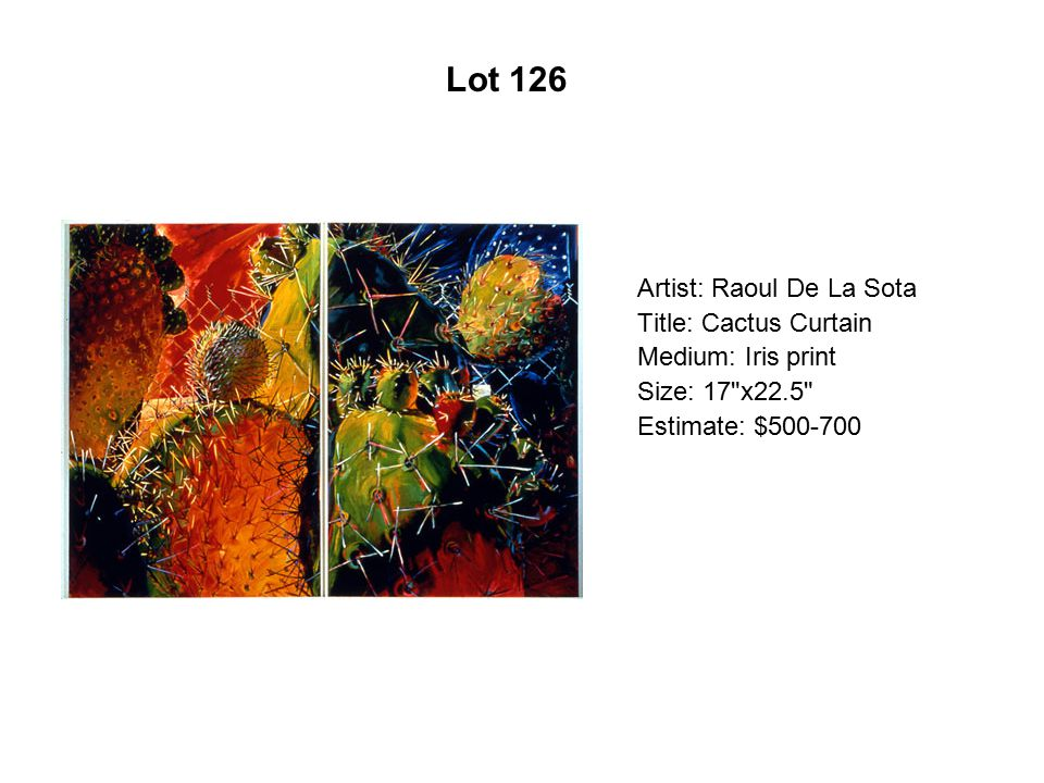 Lot 121 Artist: Frances Paragón-Arias Title: God of Christmas Cheer