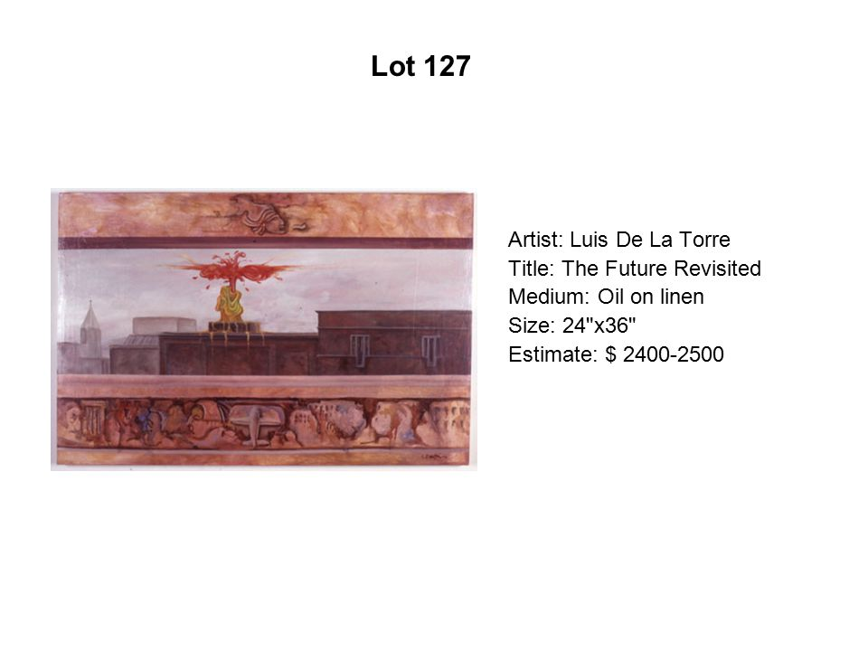 Lot 122 Artist: Daniel Ponce Marquez Title: Angelito