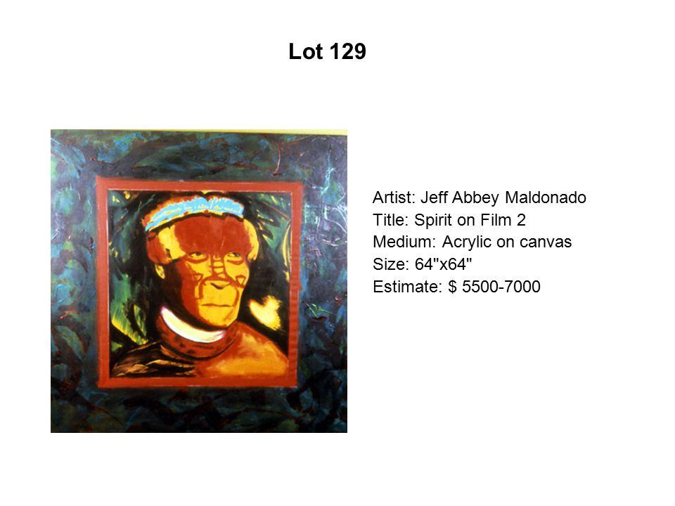 Lot 124 Artist: Leo Limón Title: Corriente de amor