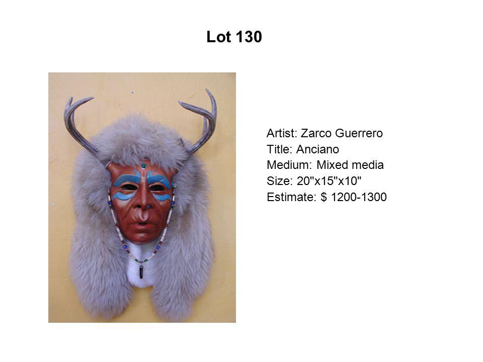 Lot 125 Artist: Ester Hernández Title: Rodeo Queen Medium: Pastel