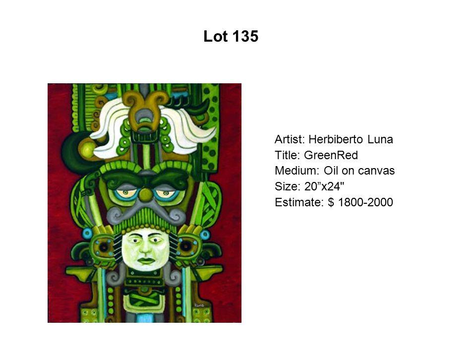 Lot 130 Artist: Zarco Guerrero Title: Anciano Medium: Mixed media