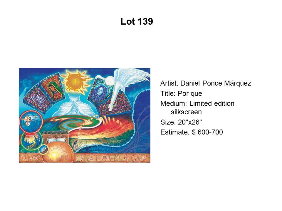 Lot 134 Artist: Maya González Title: Snow White With Breast Diagram