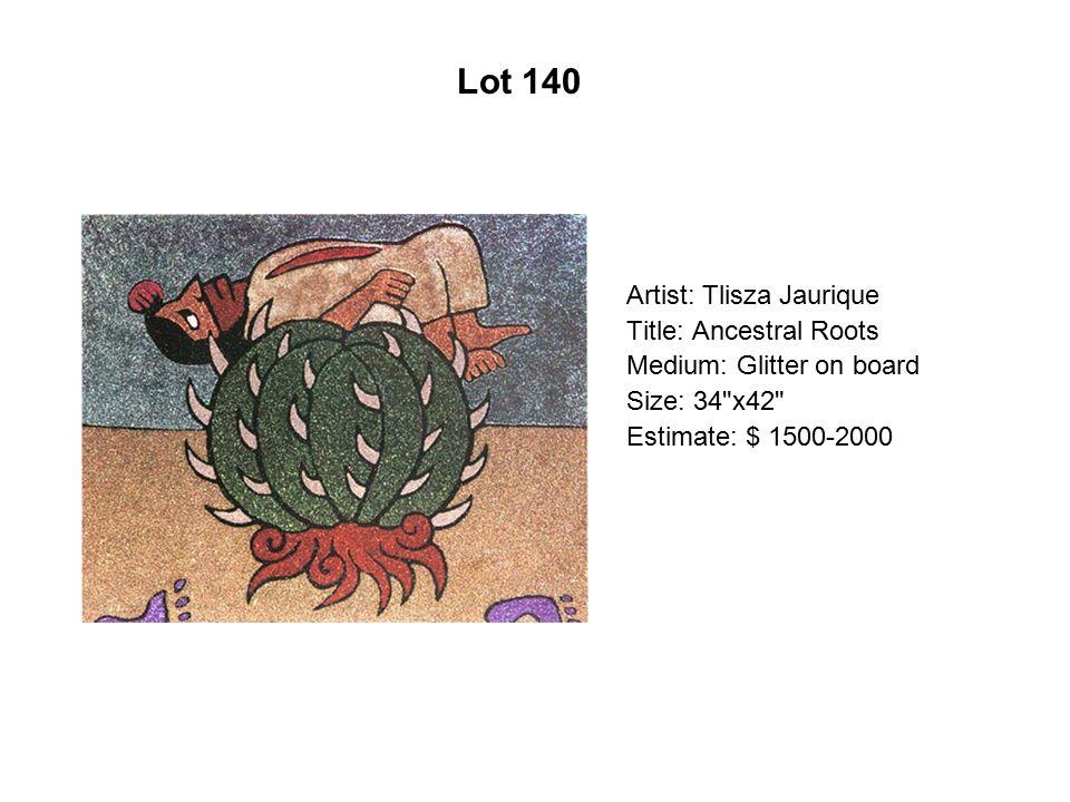 Lot 135 Artist: Herbiberto Luna Title: GreenRed Medium: Oil on canvas