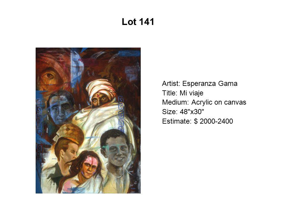 Lot 136 Artist: Carlos Gómez Title: Pieta Medium: Mix media on vellum