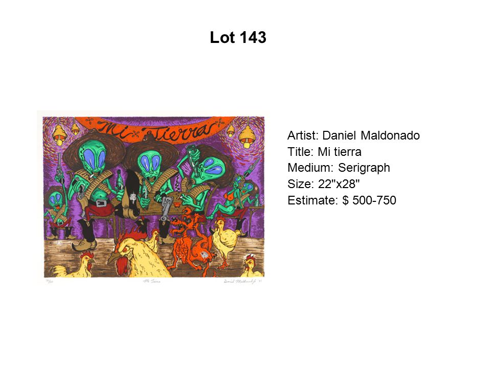 Lot 138 Artist: Ángel Rodríquez Diaz Title: Santos y pecadores