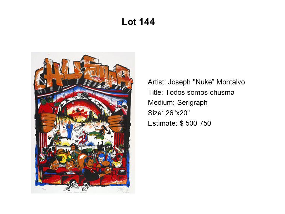 Lot 139 Artist: Daniel Ponce Márquez Title: Por que