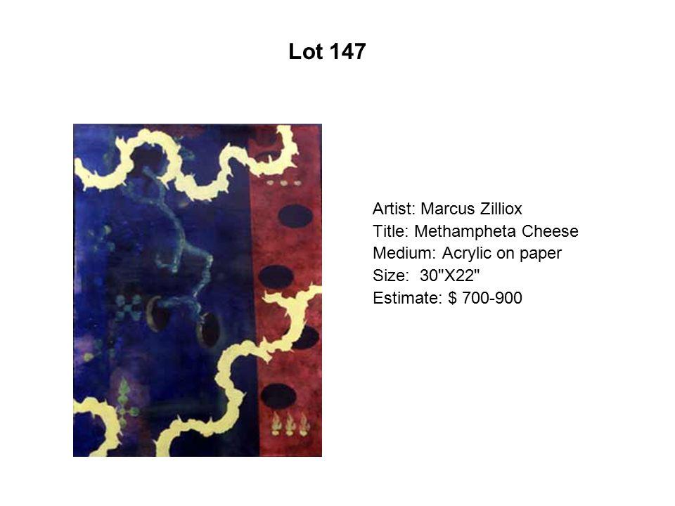 Lot 142 Artist: Mario Calvano Title: Self-Portrait