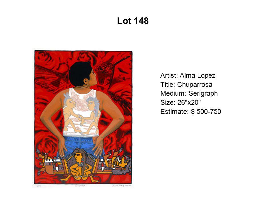 Lot 143 Artist: Daniel Maldonado Title: Mi tierra Medium: Serigraph