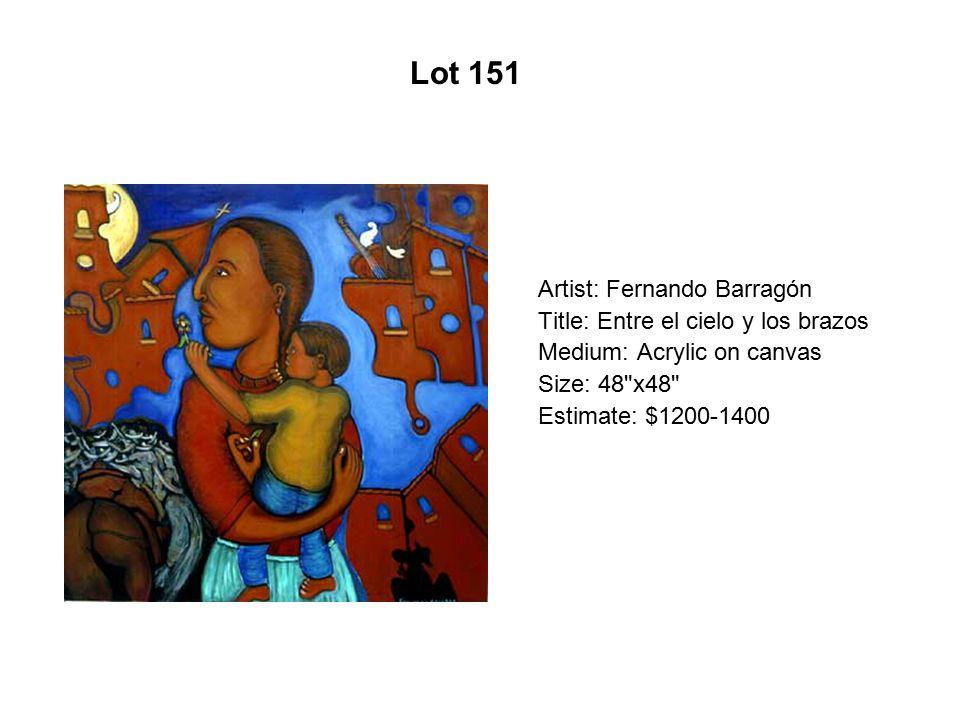 Lot 146 Artist: Alfredo Arreguín Title: La Mantilla