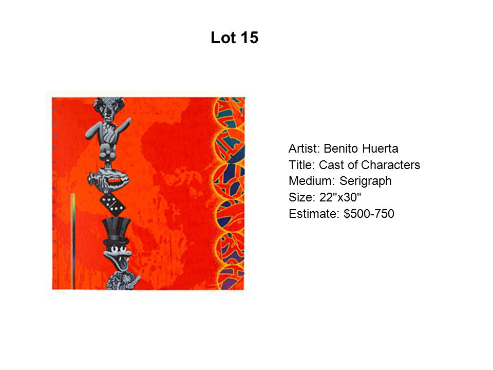 Lot 10 Artist: Laura Molina Title: La Novia Medium: Oil on canvas