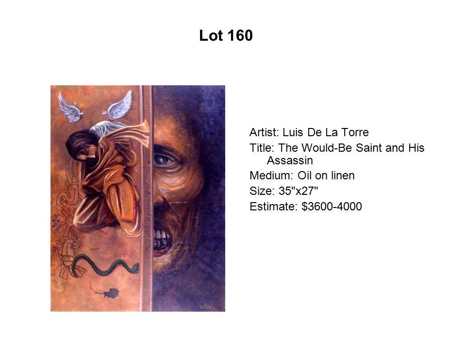 Lot 155 Artist: Jeff Abbey Maldonado Title: Entrada mascarada