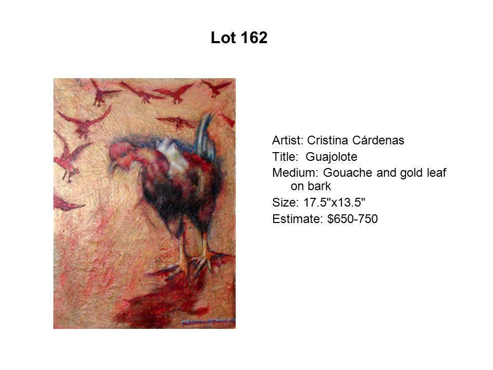 Lot 157 Artist: Carlos Gómez Title: Llanto Medium: 10 color serigraphy