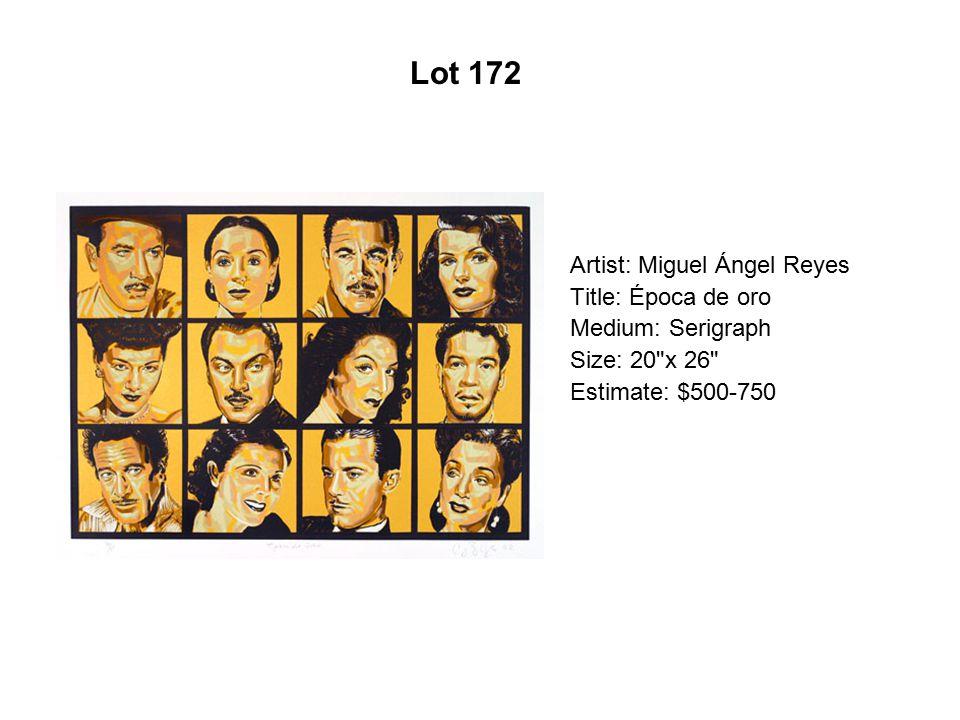 Lot 167 Artist: Tony Ortega Title: Los de abajo Medium: Serigraph
