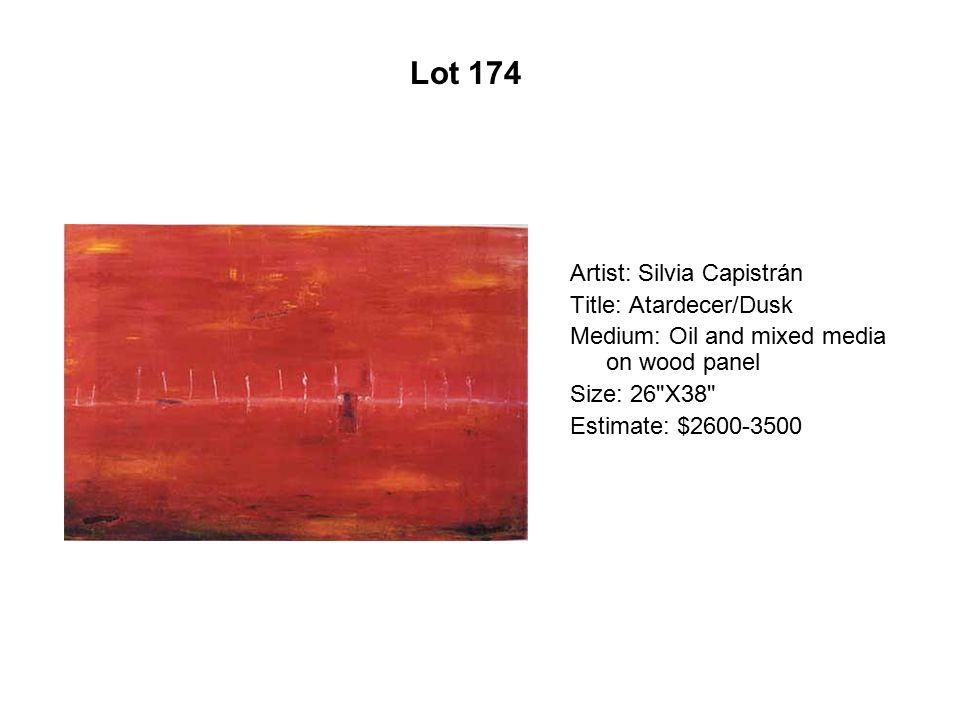 Lot 169 Artist: Maya González Title: Standing Up Green