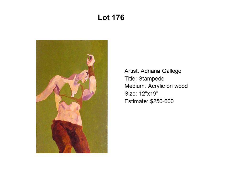 Lot 171 Artist: Jacalyn López García Title: Anticipation