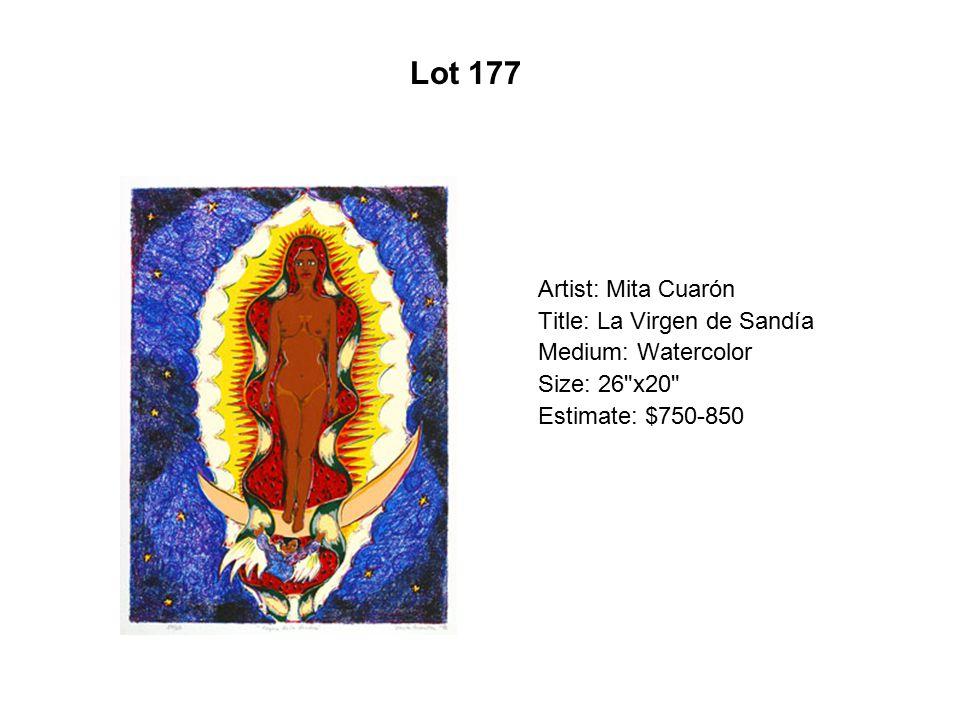 Lot 172 Artist: Miguel Ángel Reyes Title: Época de oro