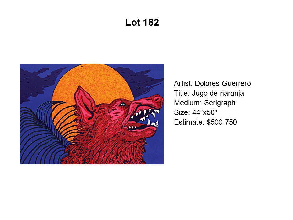 Lot 177 Artist: Mita Cuarón Title: La Virgen de Sandía