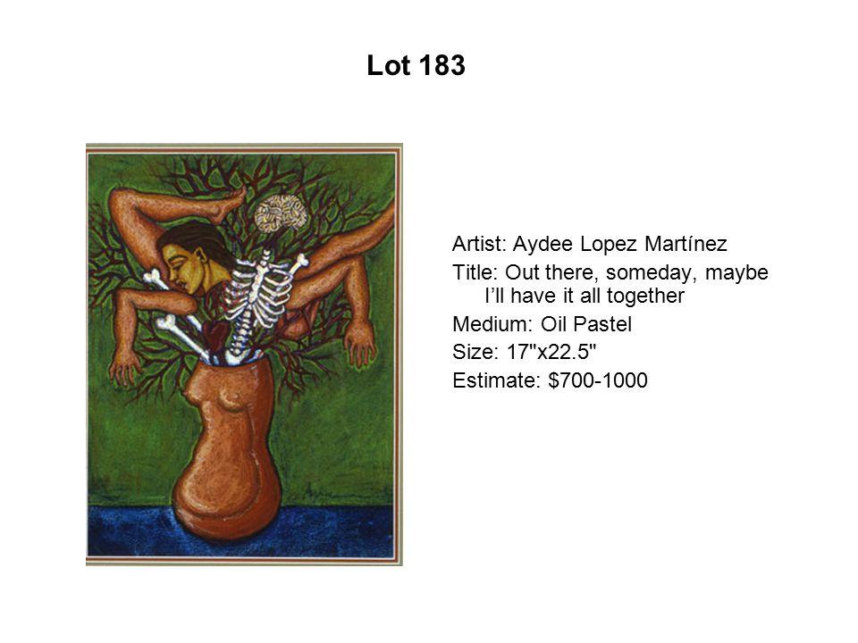 Lot 178 Artist: Fidencio Durán Title: In the Evening