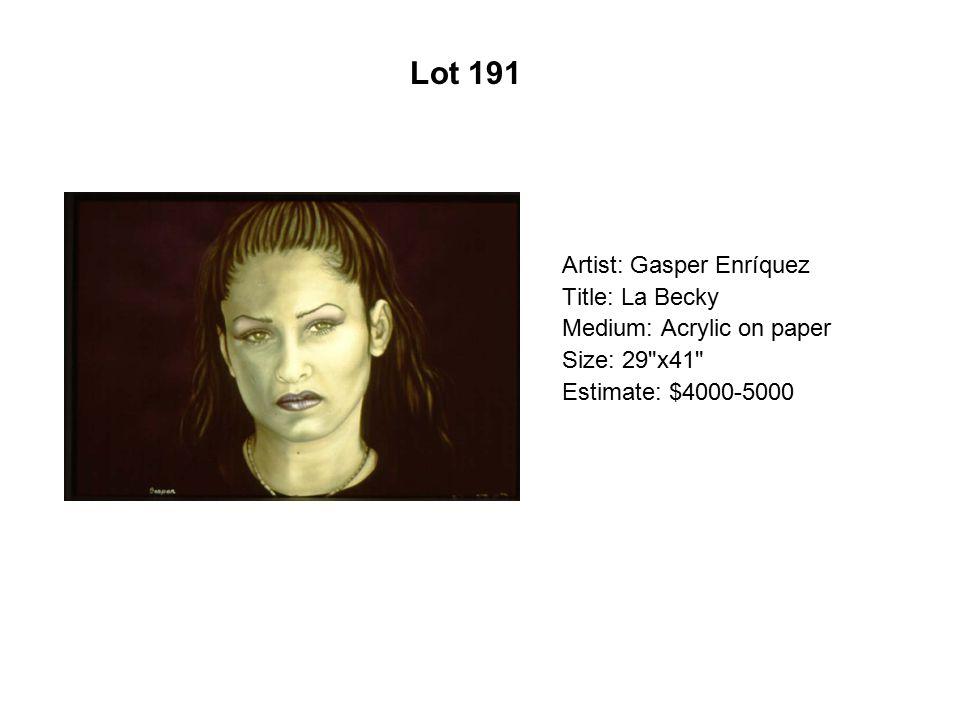 Lot 186 Artist: Esperanza Gama Title: Joan of Arc