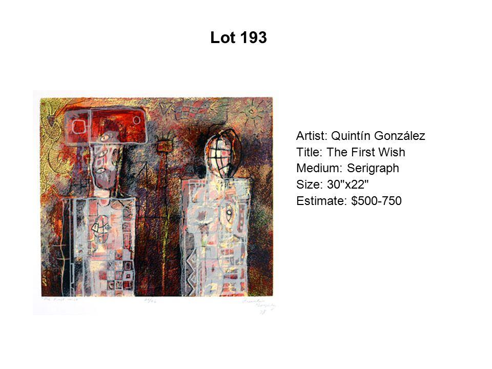 Lot 188 Artist: Charles Chaz Bojórquez Title: New World Order