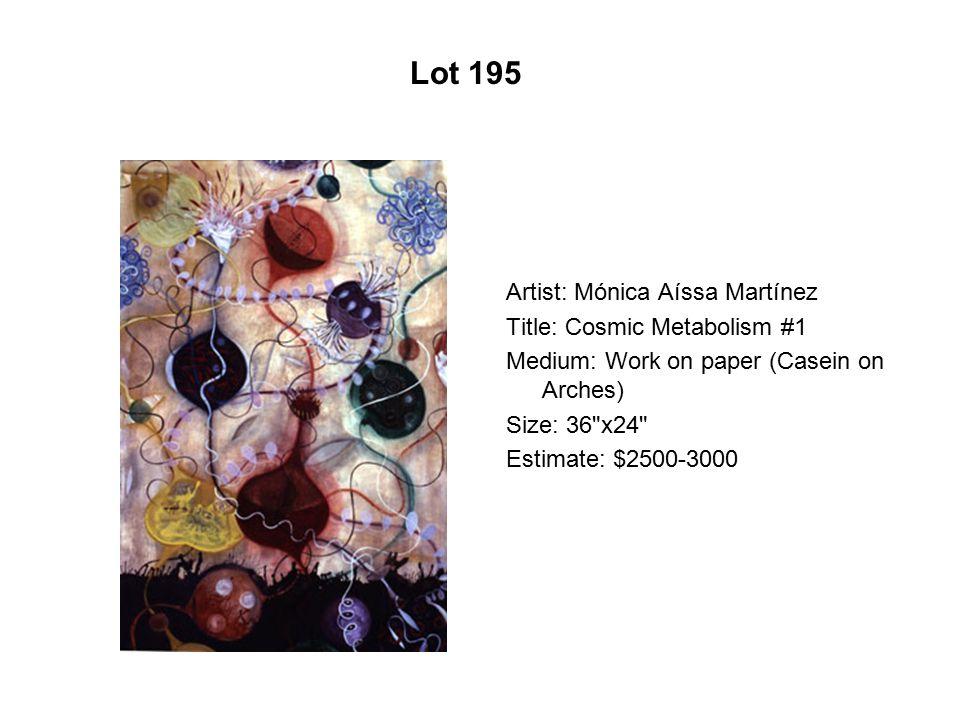 Lot 190 Artist: Marcus Zilliox Title: Wink and Jab Ennui