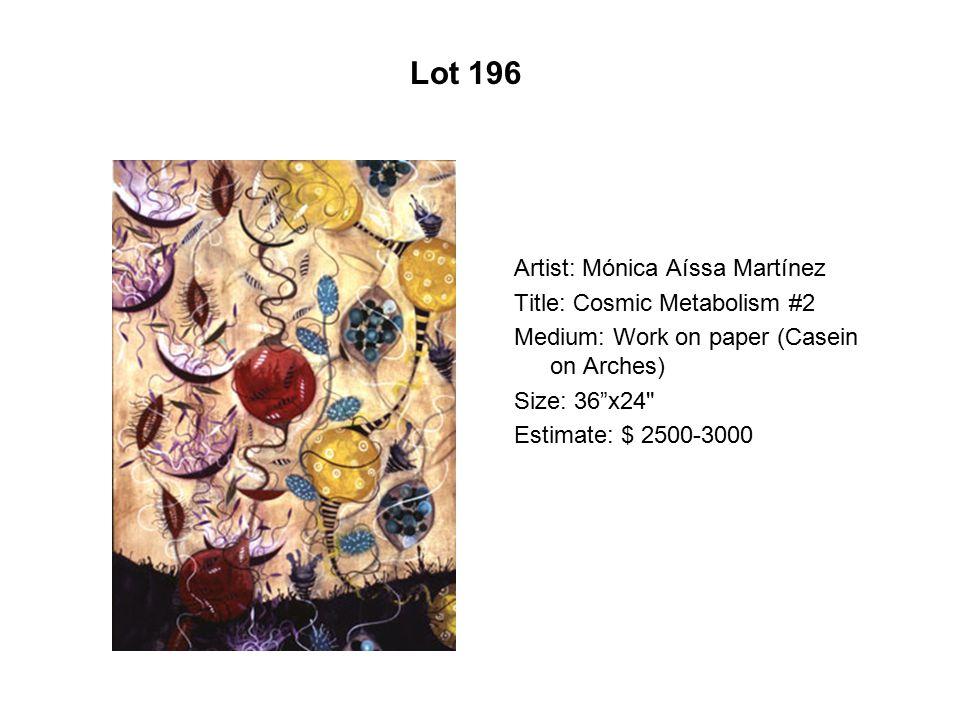 Lot 191 Artist: Gasper Enríquez Title: La Becky