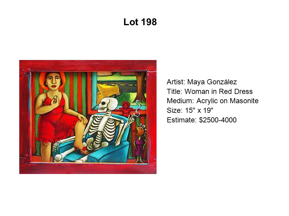 Lot 193 Artist: Quintín González Title: The First Wish