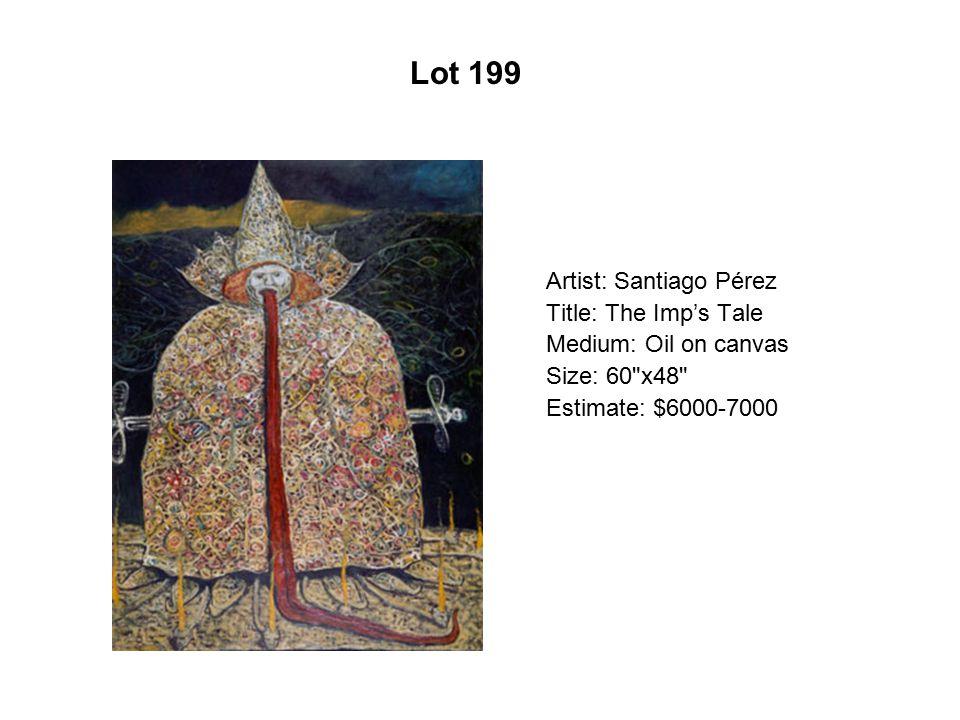 Lot 194 Artist: Artemio Rodríguez