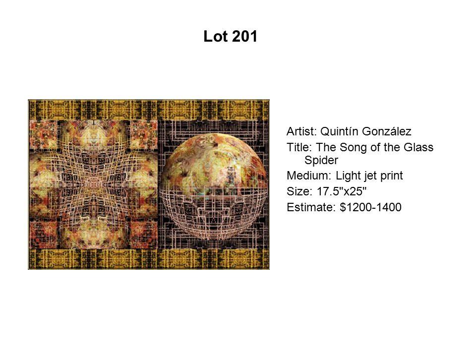 Lot 196 Artist: Mónica Aíssa Martínez Title: Cosmic Metabolism #2