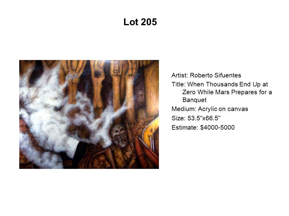 Lot 200 Artist: Carlos Frésquez Title: A Rough Ride