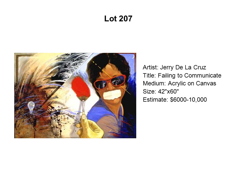 Lot 202 Artist: Zarco Guerrero Title: Viento Medium: Mixed media