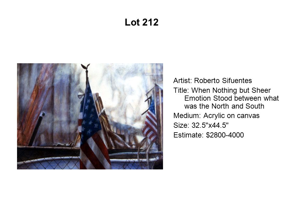 Lot 207 Artist: Jerry De La Cruz Title: Failing to Communicate